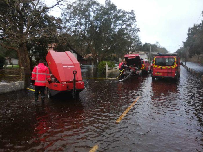 Inondations : l'avenue de la plage temporairement fermée à la circulation