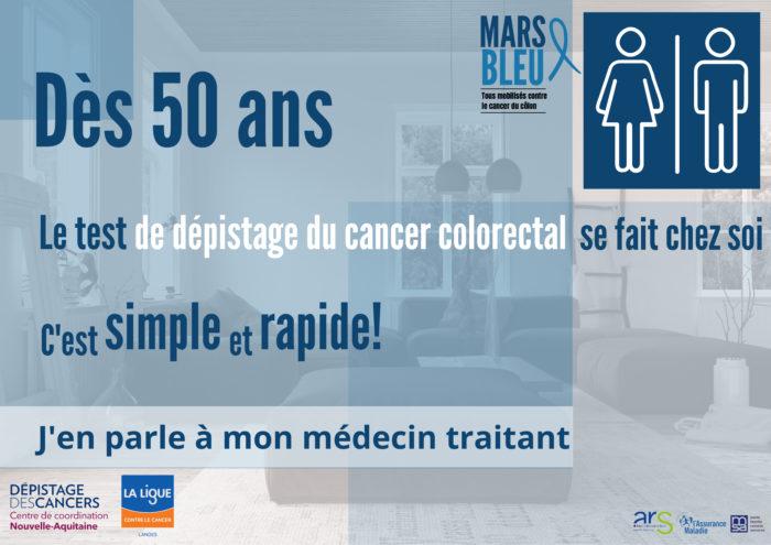 Dès 50 ans, un dépistage simple du cancer colorectal