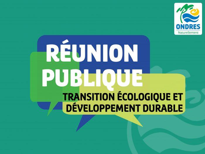 Réunion publique – Transition écologique et développement durable