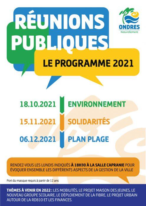 Les réunions publiques se profilent à Ondres !