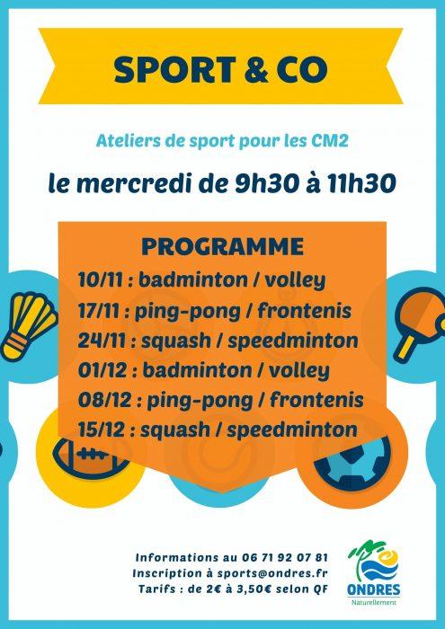 Sport & Co : activités sportives pour les CM2